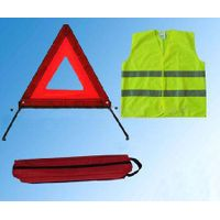 reflective Safety kits safety vest and warning triangle thumbnail image