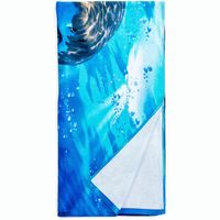 New 100% polyester digit printing custom beach towel promotional with your logo thumbnail image