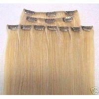 wholesale 100% virgin Brazilian human hair clip in hair extensions thumbnail image