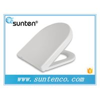 Floor Mounted Duroplast Material Slow Close D Shape Toilet Seat