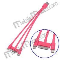 3 in 1 USB Data Sync Charging Cable (30Pin + 8Pin+ micro 5 pin) thumbnail image