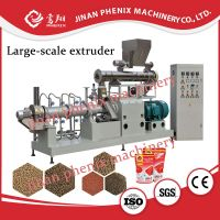 floating fish feed pellet twin screw extruder making machine thumbnail image