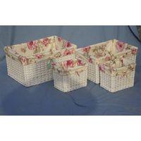Wicker basket for storage