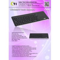 Bluetooth / Wireless Touch KeyboardK