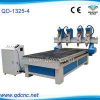 20% discounted multi-spindles cnc machine for wood/multi heads wood cnc router QD-1325-4