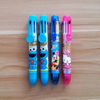 promotional multi color 8 color pen with logo