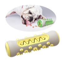 Teeth Grinding and Cleaning Rubber Dog Toothbrush, Dog Toy Molar Stick, Bite resistant TPR Dog Toy