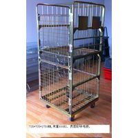 Folding laundry cage steel conatiner