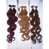 Top quality brazilian human hair stick hair extension