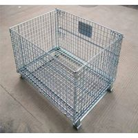 Industrial Stackable Storage Metal Folding Wire Mesh Container thumbnail image