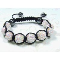 2011new fashion white shamballa bracelet thumbnail image