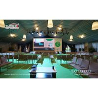 500 People Luxury Meeting Tent with Roof Lining and Curains