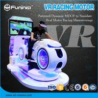 Selling 2018 new product VR RACING MOTOR game machine with VR helmet