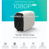 Rehent 1080P WiFi low power consumption surveillance cameras wireless 18650 battery smart phone remo