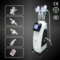 double touch screen cryolipolysis handle with cavitation body and facial RF lipo laser fat freezing thumbnail image