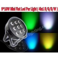 910W 4in1 RGBW Mini Led Flat Par Light/led stage light/ led par can