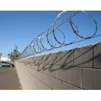 Hot dipped galvanized concertina razor wire with 9m stretched length