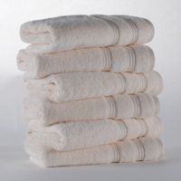 70x140 Customized White Bath Towel Sets Egyptian Cotton For Hotel