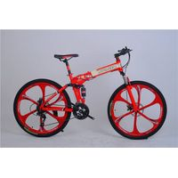integrated wheel mountain bike steel frame mtb folding mountain bike