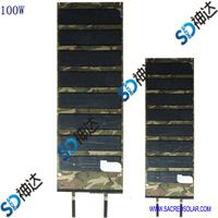 100W folding solar module for outdoor