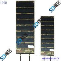 100W folding solar module for outdoor