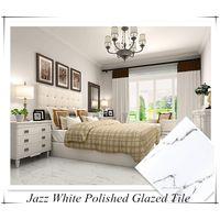 Foshan Villa Living Room Glossy Blanc Carrara White Carrelage Marbre Ceramic Floor Tile 60x60 60x120