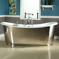 cast iron bathtub with skirt