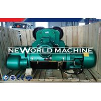 Heavy Lifting Machine 316t 12m Blue Electric Wire Rope Hoist 80v 50hz