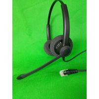 Binaural RJ9/RJ11 call center telephone headset
