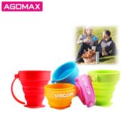Silicone folding drinking cup passed certificate foldable green cup