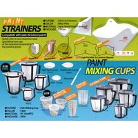 PAINT CUPS AND PAINT STRAINERS