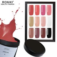 RONIKI RUBBER BASE GEL POLISH,Rubber Base Gel Polish,No Wipe Rubber Base Gel,Nail Art Gel