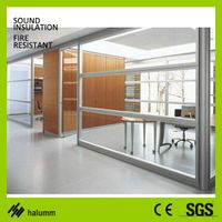 Steel interior partition curtains modular office partition