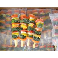 frozen skewers vegetable