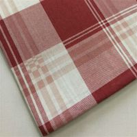 Non-elastic Pure Polyester Fabric with Large Grid Print