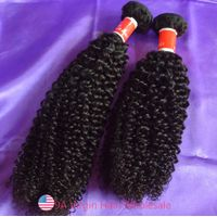 Jerry Curly 100% Virgin Human Hair Weaving Brazilian Hair Extension