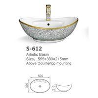 Modern design bathroom ceramic art basin vanity basin countertop colored hand wash sink
