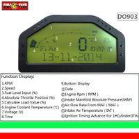 DO903 OBD dashboard gauges, luetooth function modification vehicle, instrument speed, fuel voltage, thumbnail image