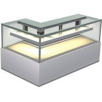 customized Corner Type Sliding Door Cake Display Showcase/cake fridge; L type cake showcase thumbnail image