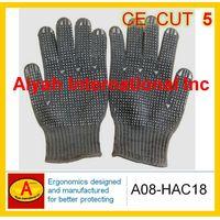 Stainless steel glove PVC dot glove anti cut glove (A08-HAC18) thumbnail image