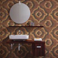 Velvet Light Brown JY-P-V03 Bisazza Brown Mosaic Pattern Glass Mosaic Bathroom Tile Design thumbnail image