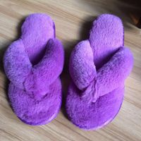Women's indoor slipper in color of purple