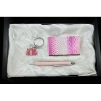 Crystal Crad Holder Key Chain Pen Lady Gift Set Business Gift