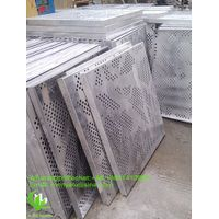 Aluminum perforated panel sheet for cladding