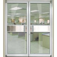 Aluminium spring door