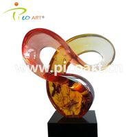 Light Red Clear Epoxy Casting Resin Contemporary Art Sculpture thumbnail image