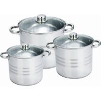 6pcs stainless steel stock pot