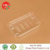 clear PET plastic disposable blister food tray thumbnail image