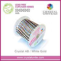 Crystal Unite rhinestone chain roll for shoes