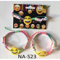 Rainbow emoji message bracelet,paracord bracelet,novelty bracelet